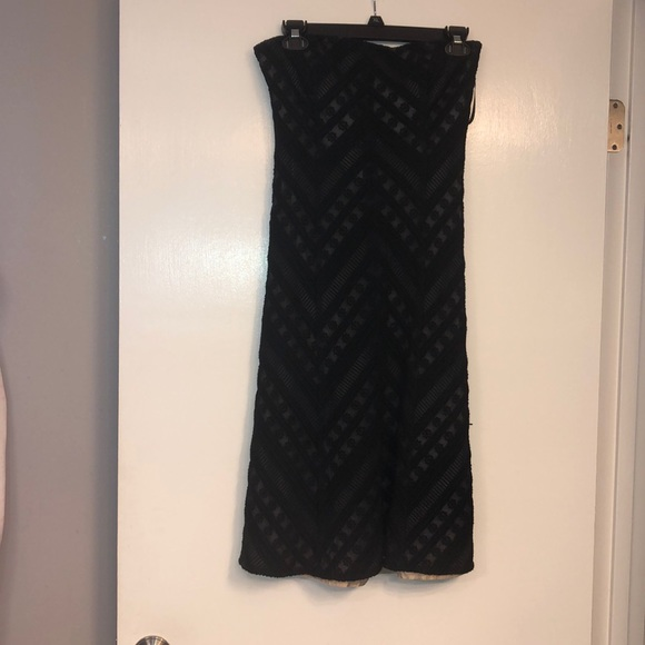 Ann Taylor Dresses & Skirts - Black strapless, silk lined dress .